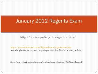 January 2012 Regents Exam