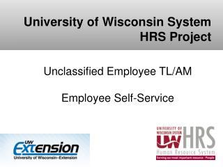 Unclassified Employee TL/AM  Employee Self-Service