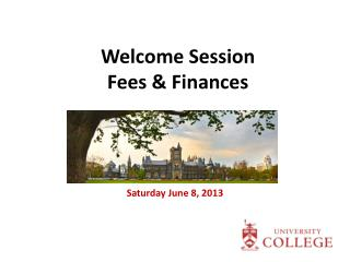 Welcome Session Fees & Finances