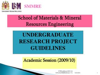School of Materials & Mineral Resources Engineering