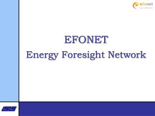 EFONET Energy Foresight Network
