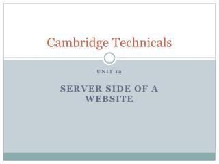 Cambridge  Technicals
