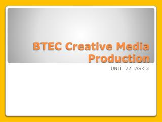 BTEC Creative Media Production