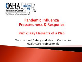 Pandemic Influenza  Preparedness & Response Part 2: Key Elements of a Plan