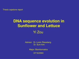 DNA sequence evolution in Sunflower and Lettuce