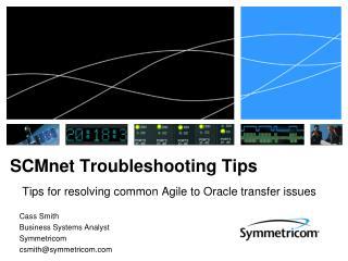 SCMnet Troubleshooting Tips