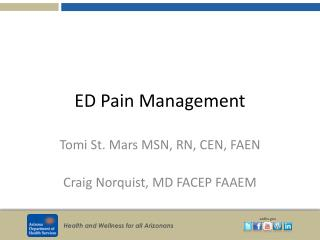 ED Pain Management
