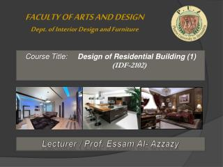 Lecturer / Prof.  Essam  Al-  Azzazy