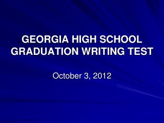 georgia high school writing test prompts All students seeking a georgia high school diploma are required to pass a set of state-mandated tests that assess students in the areas of writing, reading.