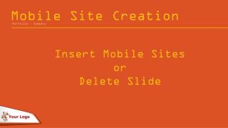 Mobile Site Creation