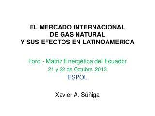EL MERCADO INTERNACIONAL DE GAS NATURAL Y SUS EFECTOS EN LATINOAMERICA