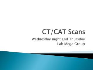CT/CAT Scans