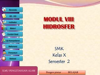 MODUL VIII HIDROSFER