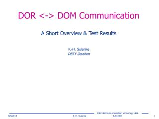 DOR <-> DOM Communication