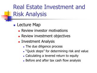 Real Estate Investment and Risk Analysis