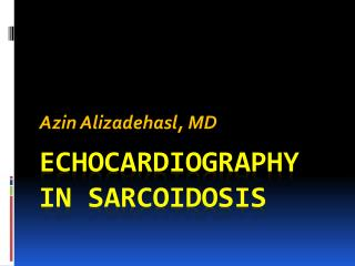 Echocardiography in  sarcoidosis