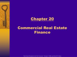 Chapter 20  Commercial Real Estate Finance