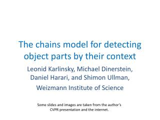 The chains model for detecting object parts by their context
