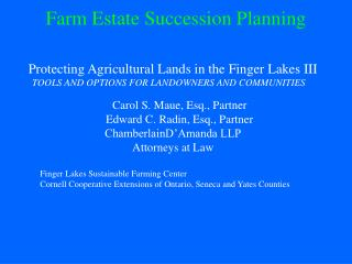 Farm Estate Succession Planning