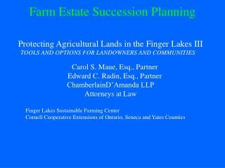 Farm Estate Succession Planning