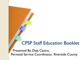 CPSP Staff Education Booklet