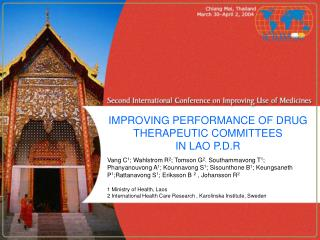 IMPROVING PERFORMANCE OF DRUG THERAPEUTIC COMMITTEES IN LAO P.D.R
