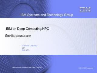 IBM en Deep Computing/HPC Sevilla o ctubre 2011