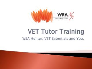 VET Tutor Training