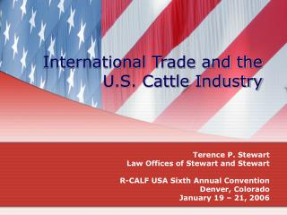 International Trade and the U.S. Cattle Industry