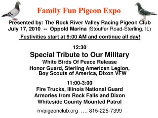 Family Fun Pigeon Expo