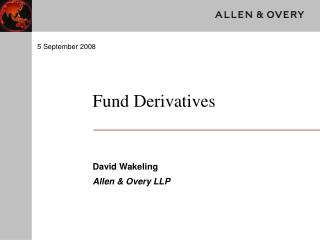 Fund Derivatives