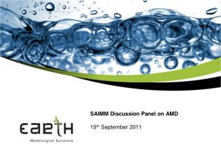 SAIMM Discussion Panel on AMD 15 th  September 2011