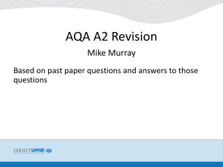 AQA A2 Revision