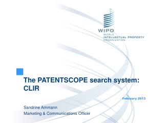 The PATENTSCOPE search system: CLIR