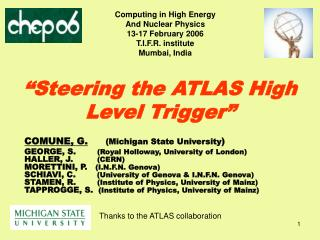 """Steering the ATLAS High Level Trigger"""