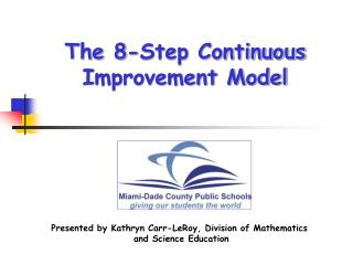 The 8-Step Continuous Improvement Model
