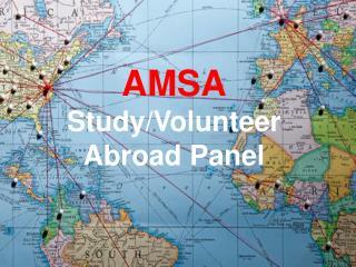 AMSA Study/Volunteer Abroad Panel