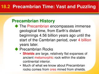 18.2   Precambrian Time: Vast and Puzzling