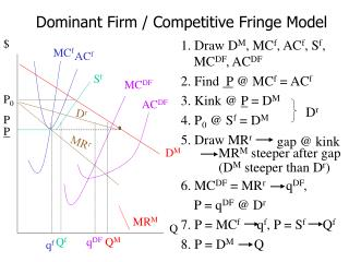 Dominant Firm / Competitive Fringe Model