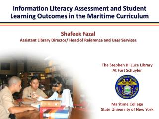 Information Literacy Assessment and Student Learning Outcomes in the Maritime Curriculum