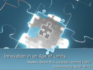 Innovation in an Age of Limits