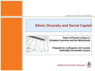 Ethnic Diversity and Social Capital