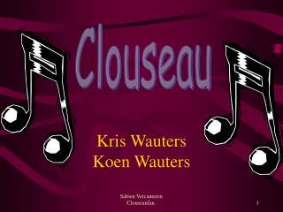 Kris Wauters Koen Wauters