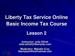 Liberty Tax Service Online Basic Income Tax Course Lesson 2