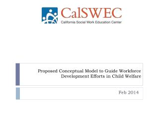 Proposed Conceptual Model to Guide Workforce Development Efforts in Child Welfare