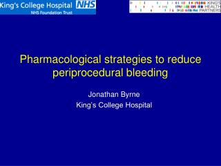 Pharmacological strategies to reduce periprocedural bleeding