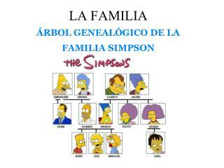 LA FAMILIA ÁRBOL GENEALÓGICO DE LA FAMILIA SIMPSON