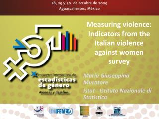 Measuring violence:  Indicators from the Italian violence against women survey
