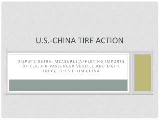 U.S.-China Tire Action