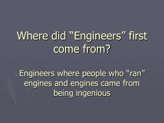Ingenious   Engine
